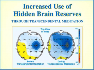 Transcending   essential for full brain development